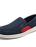 Men's Shoes Canvas Spring Fall Comfort Loafers & Slip-Ons For Casual Army Green Gray Dark Blue