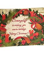 voeux de Noël flocage tapis de mousse plastique