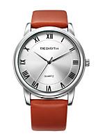 Homens Mulheres Relógio Casual Relógio de Moda Relógio de Pulso Chinês Quartzo Impermeável Couro Banda Casual Elegant Minimalista Preta