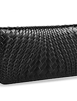 cheap -Men Bags Cowhide Clutch Zipper for Outdoor All Season Black Coffee