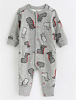 Baby Patterned One-Pieces,Cotton Fall/Autumn Long Sleeves