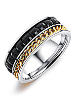 cheap -Men's Band Rings Resin Fashion Korean Titanium Steel Geometric Jewelry For Daily Going out