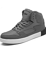 cheap -Men's Shoes PU Leatherette Winter Comfort Fashion Boots Sneakers Running Shoes Booties/Ankle Boots Stitching Lace For Casual Outdoor Gray