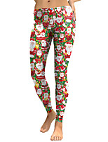 cheap -Women's Mid Rise Micro-elastic Slim Pants,Street chic Print Winter Spring/Fall