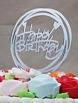 Cake Topper Wedding Acrylic Euramerican Plastic Birthday with 1 OPP