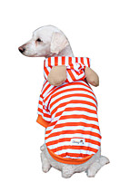 Dog Hoodie Dog Clothes Breathable Fashion Stripe Orange Costume For Pets
