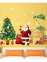 cheap -Christmas Holiday Wall Stickers 3D Wall Stickers Decorative Wall Stickers,Paper Material Home Decoration Wall Decal