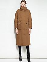 economico -Standard Piumino Da donna,Cappotto Romantico Moda città Per uscire Casual Tinta unita Poliestere Manica lunga