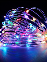 1PCS HKV® 3M 30 LED 3 x AA Battery  Copper Wire Fairy String Light Christmas Wedding Party Decoration LED String Lights (No batteries)