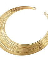 cheap -Women's Line Metallic Statement Jewelry Choker Necklace , Alloy Choker Necklace , Party Ceremony