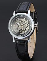 WINNER Mulheres Relógio de Moda Relógio Elegante Relógio de Pulso Automático - da corda automáticamente Gravação Oca Couro Banda Vintage