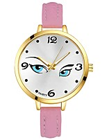 Women's Wrist watch Chinese Quartz Large Dial PU Band Casual Elegant Colorful Black White Blue Red Brown Pink Purple Yellow Rose Sky Blue