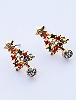 Women's Stud Earrings Drop Earrings Rhinestone Classic Casual Cartoon Lovely Fashion Alloy Geometric Jewelry For New Year Christmas