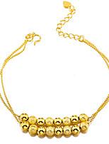 Недорогие -Жен. Браслет цельное кольцо Браслет разомкнутое кольцо азиатский Подарок Милый Мода Позолота Бижутерия Назначение Свадьба Повседневные