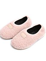 preiswerte -Mädchen Schuhe Baumwolle Stoff Winter Komfort Mokassin Flaum Futter Loafers & Slip-Ons für Normal Schwarz Grau Rosa Kamel