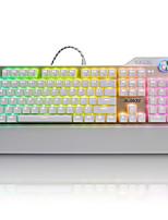 ajazz-ak35 assassin rgb teclado mecánico 107 teclas juego teclado de metal lol