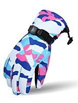 Недорогие -Лыжные перчатки Жен. Полный палец Сохраняет тепло Хлопок Лыжи Велоспорт Зима