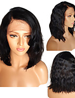 Brazilian Short Glueless Lace Front Human Hair Bob Wigs With Baby Hair Bleached Knots