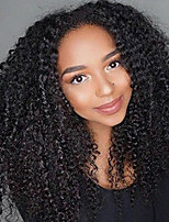 Women Human Hair Lace Wig Brazilian Remy Glueless Lace Front 180% Density With Baby Hair Kinky Curly Wig Black Short Medium Length Long