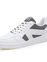 abordables -Hombre Zapatos PU Primavera Otoño Confort Zapatillas de deporte Para Casual Blanco Negro Anaranjado y Negro