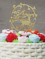 Cake Topper Holiday Acrylic Plastic Special Occasion with 1 OPP