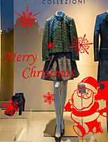 preiswerte -Person Weihnachten Fenster-Aufkleber,PVC Stoff Fensterdekoration