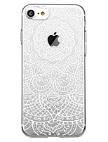 economico -Custodia Per Apple iPhone 7 Plus iPhone 7 Fantasia/disegno Per retro Fiori Mandala Morbido TPU per iPhone X iPhone 8 Plus iPhone 8 iPhone