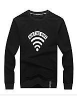 cheap -Men's Daily Sweatshirt Print Others Long Sleeves