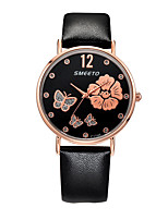Women's Casual Watch Fashion Watch Chinese Quartz Chronograph Leather Band Casual Elegant Christmas Black White