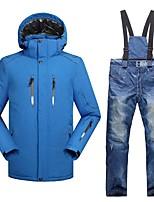 Per uomo Giacca e pantaloni da sci Caldo Ompermeabile Antivento Indossabile Traspirabilità Leggero Sci