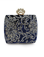 Women Bags All Seasons PU Evening Bag Embroidery Pockets Sequins for Event/Party Outdoor Black Dark Blue Wine