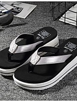 cheap -Women's Shoes Leatherette Rubber Summer Comfort Slippers & Flip-Flops For Casual Silver Black Gold
