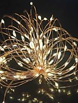 1 pc 10 m 100 led fil de cuivre chaîne lumière solaire chaîne d'énergie fée lumière pour la vie en plein air décoration jardin