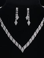 Women's Drop Earrings Pendant Necklaces Cubic Zirconia Rhinestone Wedding Evening Party Cubic Zirconia