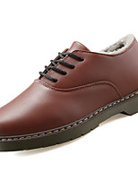 Men's Shoes PU Spring Fall Comfort Oxfords For Outdoor Red Brown Black