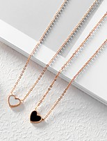 cheap -Women's Pendant Necklace Titanium Steel Rose Gold Plated Pendant Necklace , Wedding Party