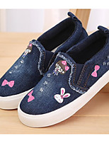 cheap -Girls' Shoes Canvas Winter Fall Comfort Loafers & Slip-Ons Walking Shoes Animal Print for Casual Dark Blue Light Blue