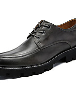 Men's Shoes PU Spring Fall Comfort Oxfords For Outdoor Brown Gray Black