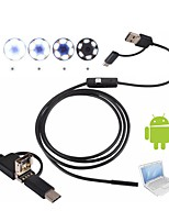 cheap -3 in 1 USB Camera Endoscope 2M Hard Cable Inspection Borescop Waterproof IP67 8mm Lens Snake Cam for Android PC Windows