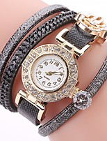 abordables -Mujer Reloj Casual Reloj de Moda Reloj Pulsera Simulado Diamante Reloj Chino Cuarzo La imitación de diamante PU Banda Casual Bohemio