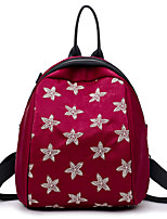 cheap -Women Bags PU Backpack Zipper for Casual Outdoor All Season Black Red