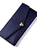 cheap -Women Bags PU Wallet Buttons for Formal Office & Career All Season Blushing Pink Dark Blue Light Purple Dark Grey Sky Blue