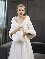 cheap -Sleeveless Faux Fur Wedding Party / Evening Women's Wrap Shawls