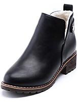 preiswerte -Damen Schuhe Gummi Winter Springerstiefel Stiefel Runde Zehe Für Schwarz Khaki