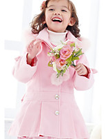 Girls' Solid Trench Coat Blushing Pink