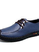 Men's Shoes Nappa Leather Spring Fall Comfort Oxfords For Casual Blue Brown Black