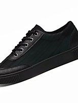 cheap -Men's Shoes PU Spring Fall Comfort Sneakers For Casual Black/Green Black