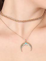 Жен. Ожерелья-бархатки Ожерелья с подвесками MOON Сплав Elegant Бижутерия Назначение Для вечеринок Повседневные