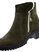 cheap -Women's Shoes PU Spring Fall Comfort Boots For Outdoor Green Gray Black