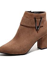 abordables -Mujer Zapatos Cuero Nobuck Primavera Otoño Confort Botas de Combate Botas Para Casual Negro Marrón